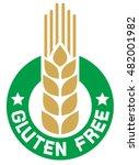 gluten free label   Shutterstock .eps vector #482001982