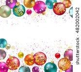 christmas balls  new year...   Shutterstock .eps vector #482002042