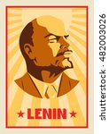 Portrait Of Vladimir Lenin....