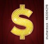 gold light lamp bulb font us... | Shutterstock .eps vector #482004298