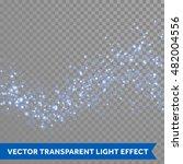 neon blue glittering star dust... | Shutterstock .eps vector #482004556