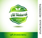 all natural badge label seal... | Shutterstock .eps vector #482008096
