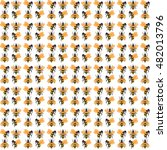 bee fly pattern design... | Shutterstock .eps vector #482013796