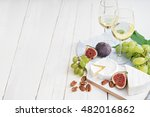 image of two glasses of wine ... | Shutterstock . vector #482016862