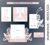 wedding collection. laser cut... | Shutterstock .eps vector #482017222