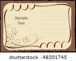 elegant lined frame with flower | Shutterstock .eps vector #48201745