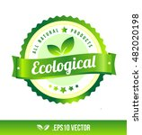 ecological badge label seal... | Shutterstock .eps vector #482020198