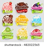 set of chocolate  banana ... | Shutterstock .eps vector #482022565
