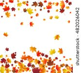 abstract autumnal background... | Shutterstock .eps vector #482026042