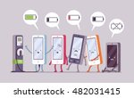smartphones are charging near... | Shutterstock .eps vector #482031415