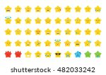 set of emoji in the form of... | Shutterstock .eps vector #482033242
