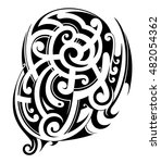 maori ethnic style tattoo shape | Shutterstock .eps vector #482054362