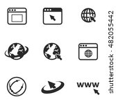 browser vector icons. simple...
