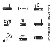 modem vector icons. simple...