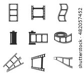 photo film vector icons. simple ...
