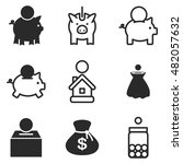 money box vector icons. simple...
