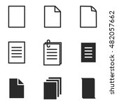 page vector icons. simple...