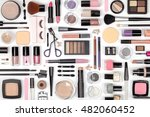 makeup cosmetics  brushes and... | Shutterstock . vector #482060452