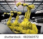 3d rendering robotic arms with...   Shutterstock . vector #482060572