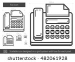 fax vector line icon isolated... | Shutterstock .eps vector #482061928