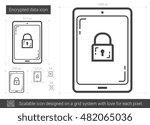 encrypted data vector line icon ...   Shutterstock .eps vector #482065036