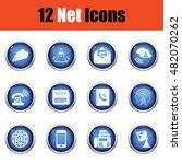 communication icon set.  glossy ...
