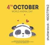 vector world animal day... | Shutterstock .eps vector #482075962
