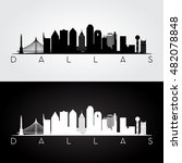 dallas usa skyline and... | Shutterstock .eps vector #482078848