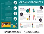 organic products infographic... | Shutterstock .eps vector #482080858
