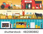 nature farmer ecology flat... | Shutterstock .eps vector #482080882