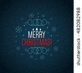 christmas and new year. vector... | Shutterstock .eps vector #482082988