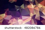 trangular trendy hipster... | Shutterstock .eps vector #482086786