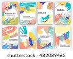 hand drawn artistic background... | Shutterstock .eps vector #482089462