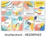 hand drawn artistic background... | Shutterstock .eps vector #482089465