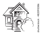 private house logo  detached... | Shutterstock .eps vector #482093386