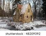 Ruin In Forest. Lodge Or Small...