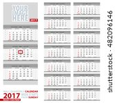 wall quarterly calendar 2017.... | Shutterstock .eps vector #482096146