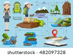 woman asian character and... | Shutterstock .eps vector #482097328