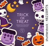 halloween elements   card... | Shutterstock .eps vector #482100976