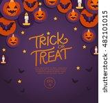 halloween elements    vector...   Shutterstock .eps vector #482101015