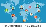 social network media... | Shutterstock .eps vector #482101366