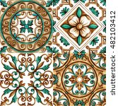 ornaments on the tiles ... | Shutterstock . vector #482103412