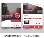 red purple business brochure... | Shutterstock .eps vector #482107288