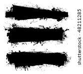 black ink banner with ink...   Shutterstock .eps vector #48211285
