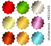 set colorful star labels on... | Shutterstock .eps vector #48211633