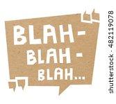 speech bubble cut out of craft... | Shutterstock .eps vector #482119078
