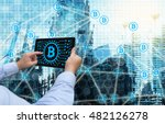 cryptocurrency  blockchain and... | Shutterstock . vector #482126278