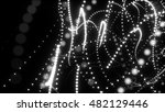 abstract white particles... | Shutterstock . vector #482129446