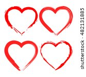 vector grunge heart  valentine... | Shutterstock .eps vector #482131885