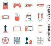 game entertaining icons | Shutterstock .eps vector #482135578